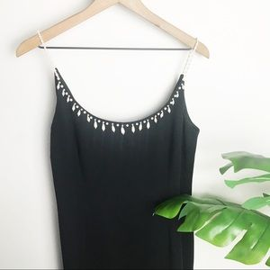 Pearl Straps Little Black Dress